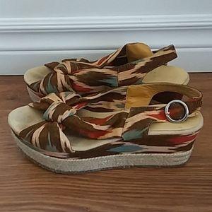 Bettye Muller Wedge Slingback Shoes